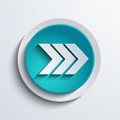 vector modern blue circle icon. Web element