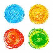 Colorful pencil strokes