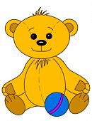 picture of tilde  - Toy teddy bear baby smiling - JPG