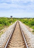 Long And Straight Railroad Track