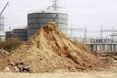 Pile Of Dry Soil And Sand