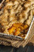 Homemade Flakey Peach Cobbler