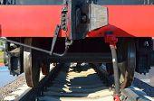 Rear view of a coal wagon