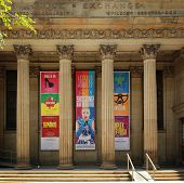 MONTREAL  CANADA - JUNE 02, 2014:  The Centaur Theatre is located in the Old Stock Exchange Building