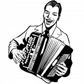 image of accordion  - Accordion player  - JPG