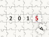 2015 New Year Symbol On Puzzle