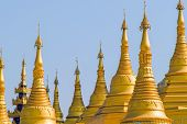 stock photo of tabernacle  - Shwemawdaw Pagoda on blue sky background - JPG