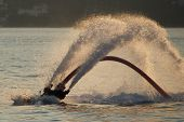 pic of semi-circle  - Flyboarder only showing feet after semi - JPG