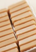 picture of toffee  - Toffee candies in a package closeup shot - JPG