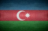 Closeup Screen Azerbaijan Flag Concept On Pvc Leather For Background
