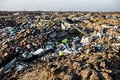 image of landfill  - Piles of garbage on the city landfill