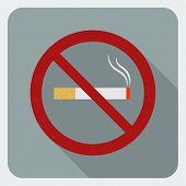 Flat icon no smoking. Stop smoking symbol.