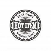 hot item label sticker