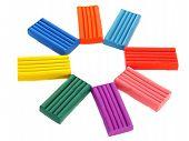 Children's Colored Plasticine. Colorful Sun