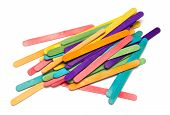 Pile Of Assorted Colored Craft Sticks