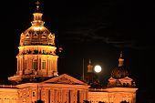 Supermoon over the Iowa State Capitol