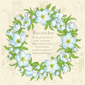Floral Greeting Card With Anemones