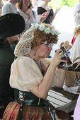 MUSKOGEE, OK - MAY 24: Royal ladies enjoy queen's tea at the Oklahoma 19th annual Renaissance Festiv