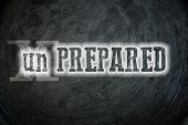 stock photo of disaster preparedness  - Prepared Concept text idea marker plan andure - JPG