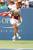 Professional tennis player Richard Gasquet during first round match at US Open 2013