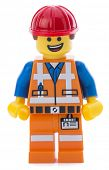 Ankara, Turkey - March 15, 2014 : Lego movie minifigure character Emmet isolated on white background