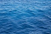 Deep Blue Water Background In Blue