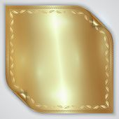 Vector abstract golden metallic rolled foil sheet