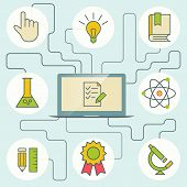 Science And Education Infographics With Computer And Icons