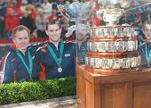 Davis Cup trophy on display at Billie Jean King National Tennis Center