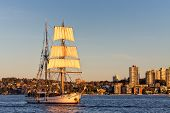Tall ship returns from the sea