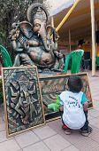 Lord Ganesha, Art Work , Indian Handicrafts Fair At Kolkata