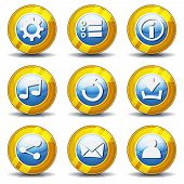 Gold Icons For Ui Game