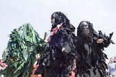 Bedlam morris dancers, Tewkesbury Medieval Festival, UK