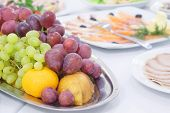 picture of fruit platter  - fruit platter on a Banquet table - JPG