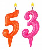 Birthday Candles Number Fifty Three