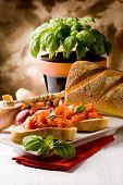 Bruschetta With Ingredients