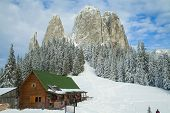 mountain resort in winter
