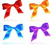 Bright colorful vector bows set