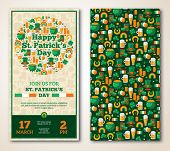 pic of saint patrick  - Set Of Vintage Happy St - JPG