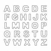 Outline Bold Vintage Retro Font. Vector