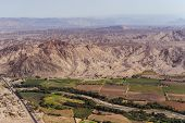 foto of geoglyph  - Desert View Nazca bird - JPG