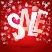 Winter Sale Typography Symbol