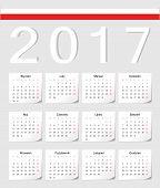 Polish 2017 Calendar