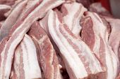 picture of pork belly  - pork belly for cooking at the market - JPG