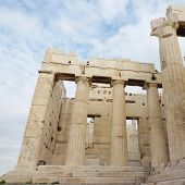 Ancient Parthenon Temple in Athens Greece