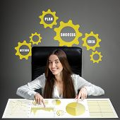 Woman analyzing business calculations