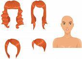 Set Of Woman Haircuts