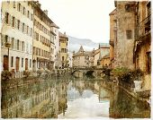foto of annecy  - vintage photo of the town of Annecy - JPG