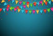 stock photo of confetti  - Celebrate banner - JPG
