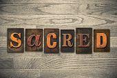 Sacred Concept Wooden Letterpress Type